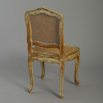 Pair of Louis XVI Painted Side Chairs
