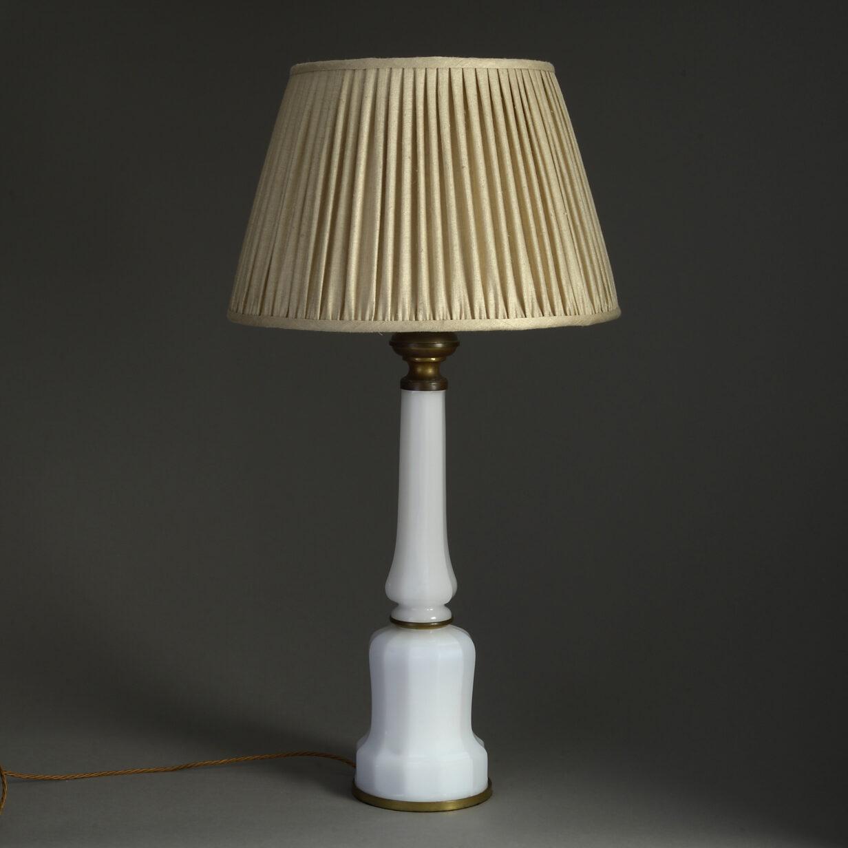 White Opaline Glass Lamp