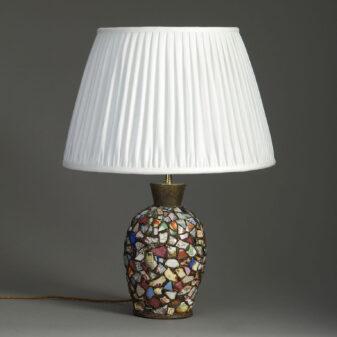 Ceramic Collage Lamp