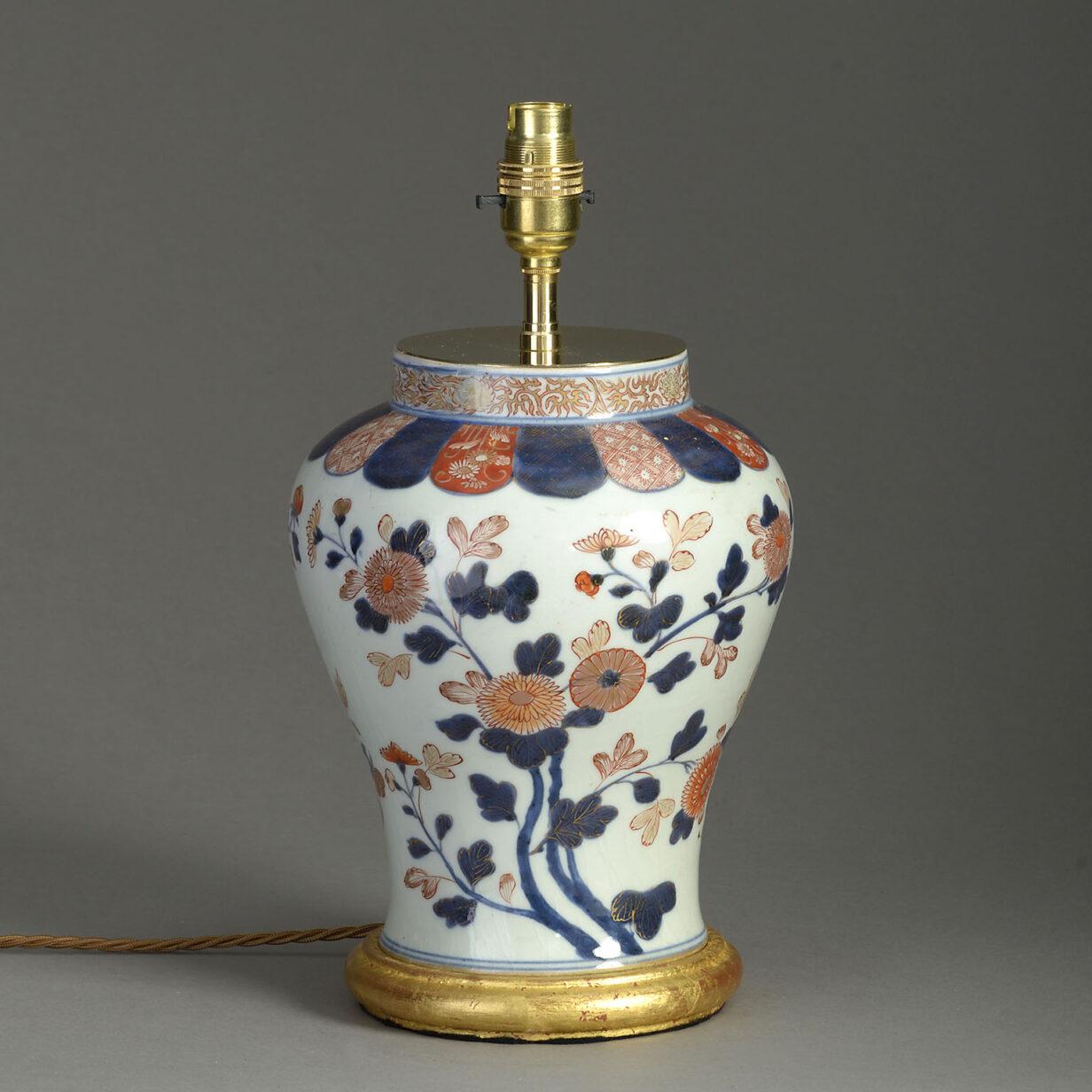 Imari Porcelain Vase Lamp
