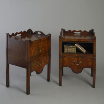 Pair of George III Bedside Cabinets