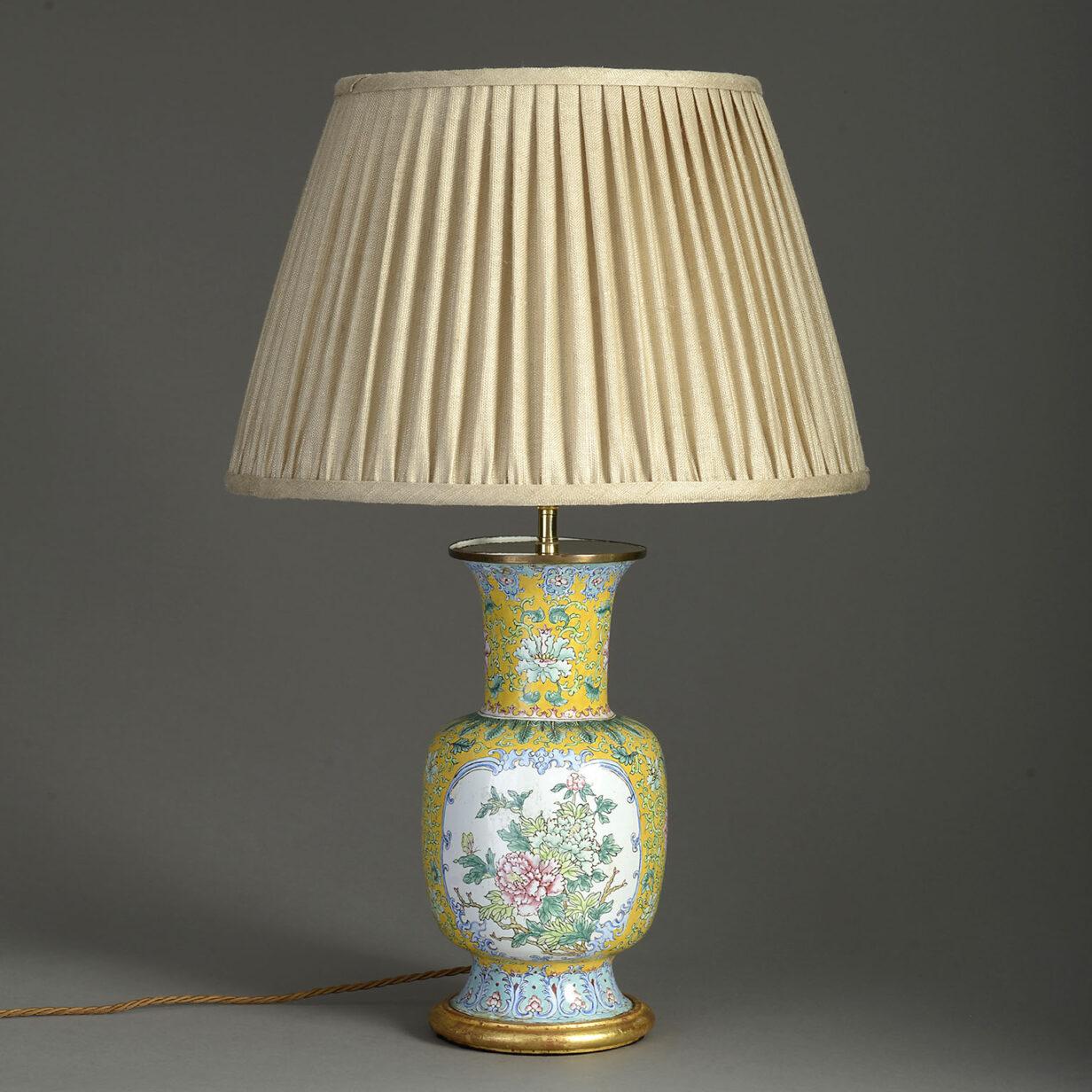Canton Enamel Vase lamp