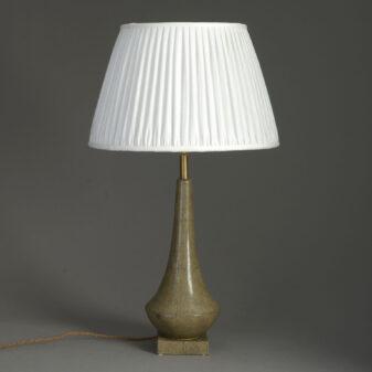 Faux Shagreen Lamp