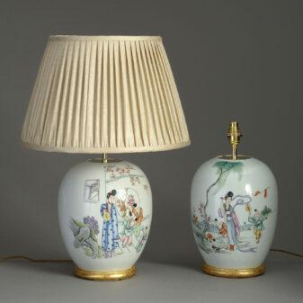 Pair of Republic Period Vase Lamps