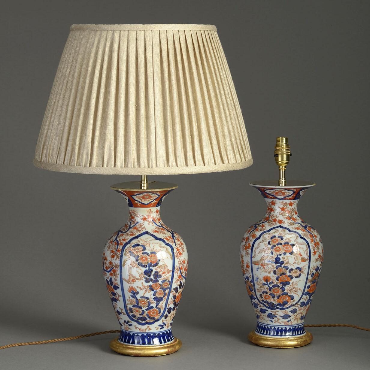 Pair of Meiji Imari Lamps