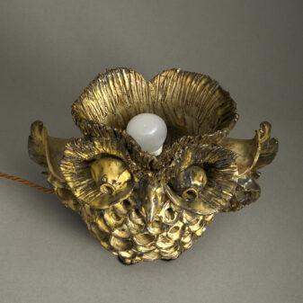 Ceramic Owl Lamp