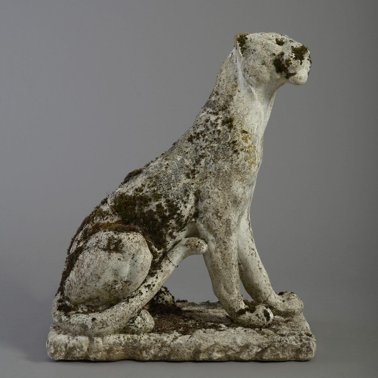 Stone Puma Garden Ornament