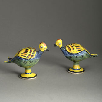 Pair of Pottery Birds