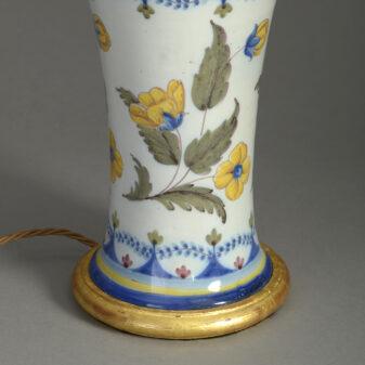 Faience Vase Lamp