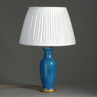 Chinese Turquoise Vase Lamp