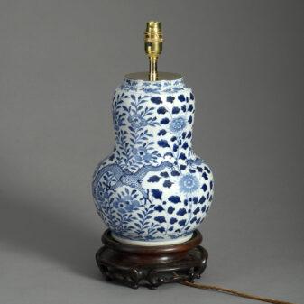 Blue and White Dragon Vase Lamp
