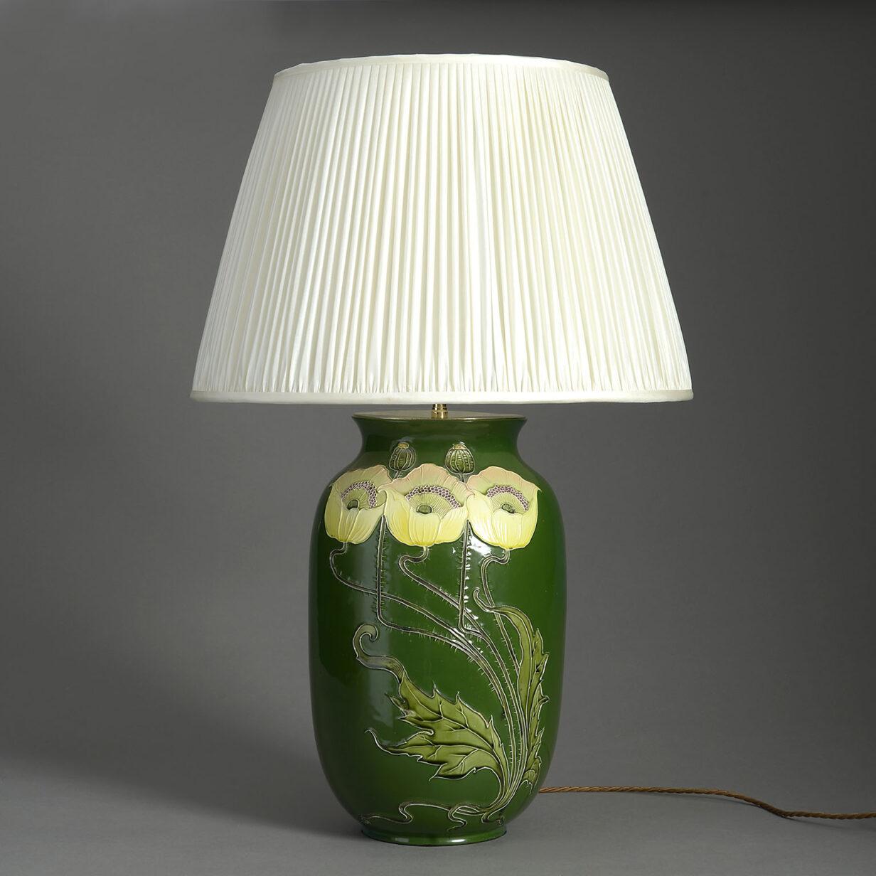 Art Nouveau Vase Lamp