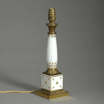 Paris Porcelain Column Lamp