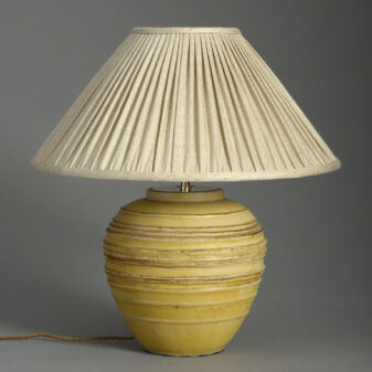 Ochre Art Vase lamp