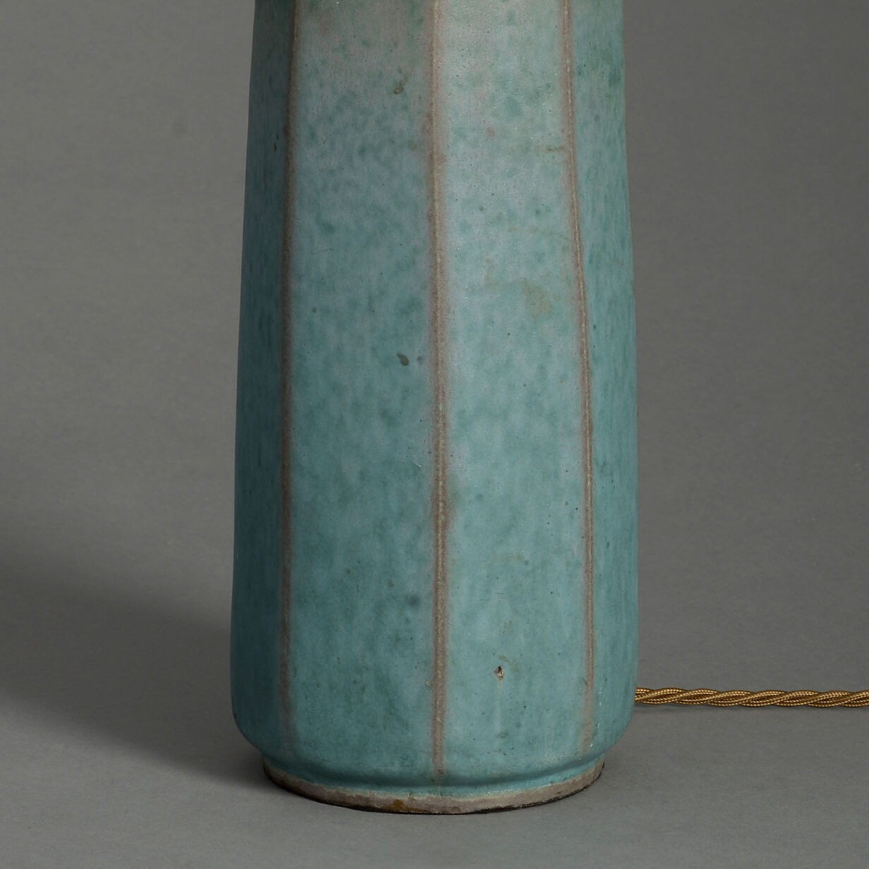 Green Glazed Faceted Vase lamp