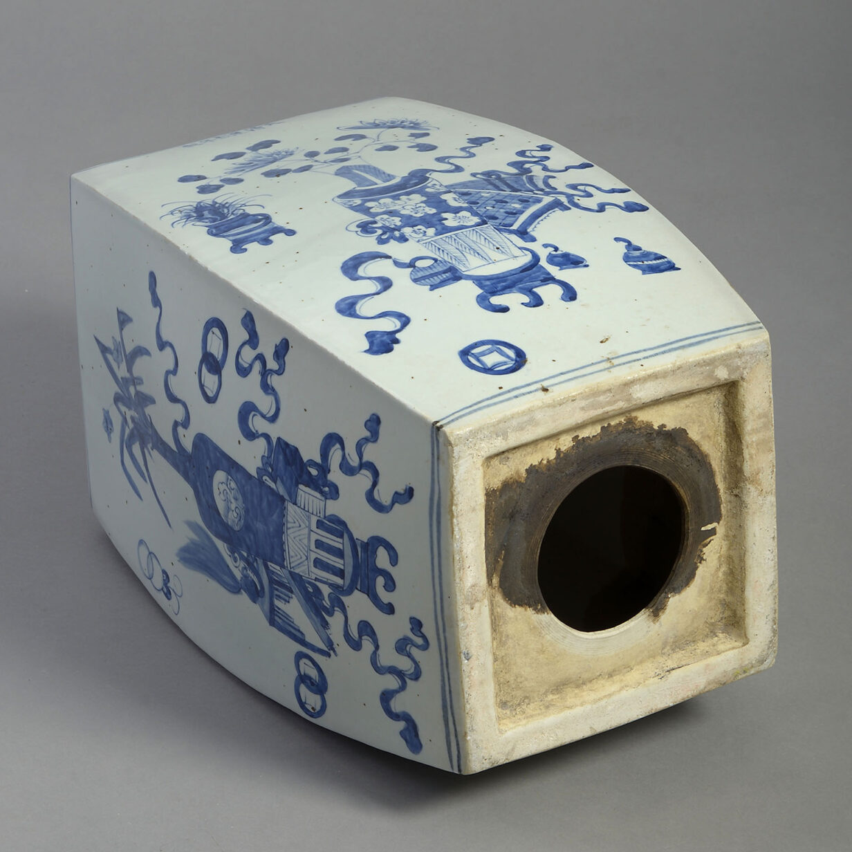 Blue and White Garden Seat