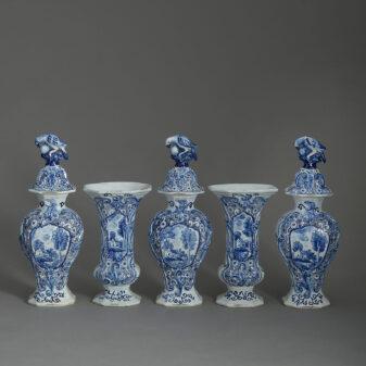 Blue and White Delft Garniture