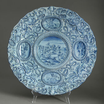 Blue and White Maiolica Charger