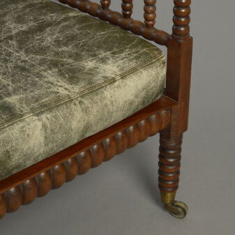 Regency Yew Wood Bobbin Corner Armchair