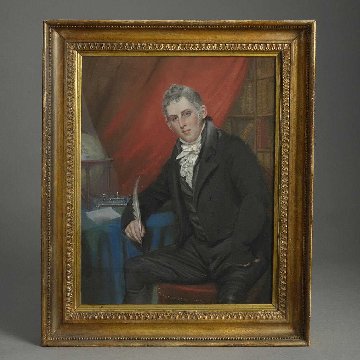 John Raphael Smith Pastel Portrait