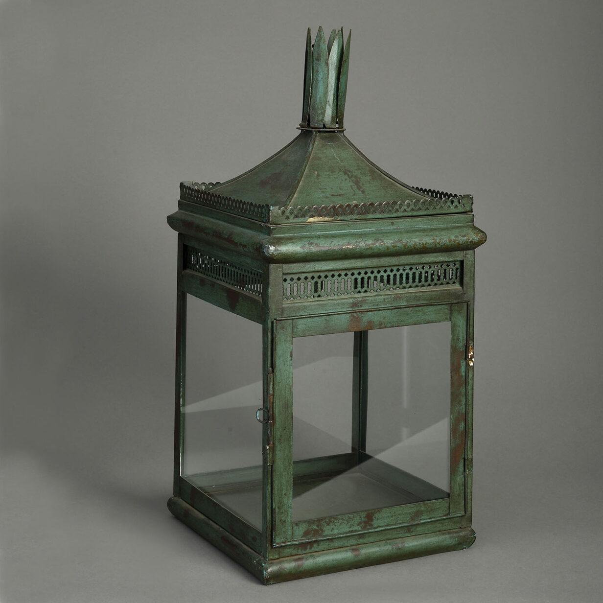 Regency Style Tole Hanging Lantern