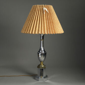 Chrome and Brass Lamp