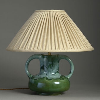 Green Pottery Art Vase Lamp