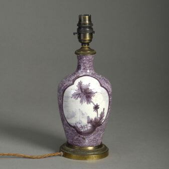 Manganese Glazed Vase Lamp