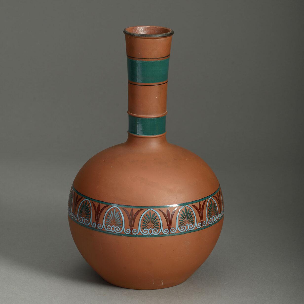 Terracotta Bottle Vase
