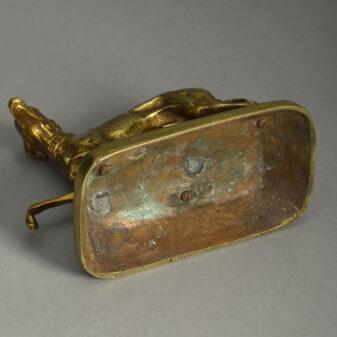 Gilt Bronze Whippet