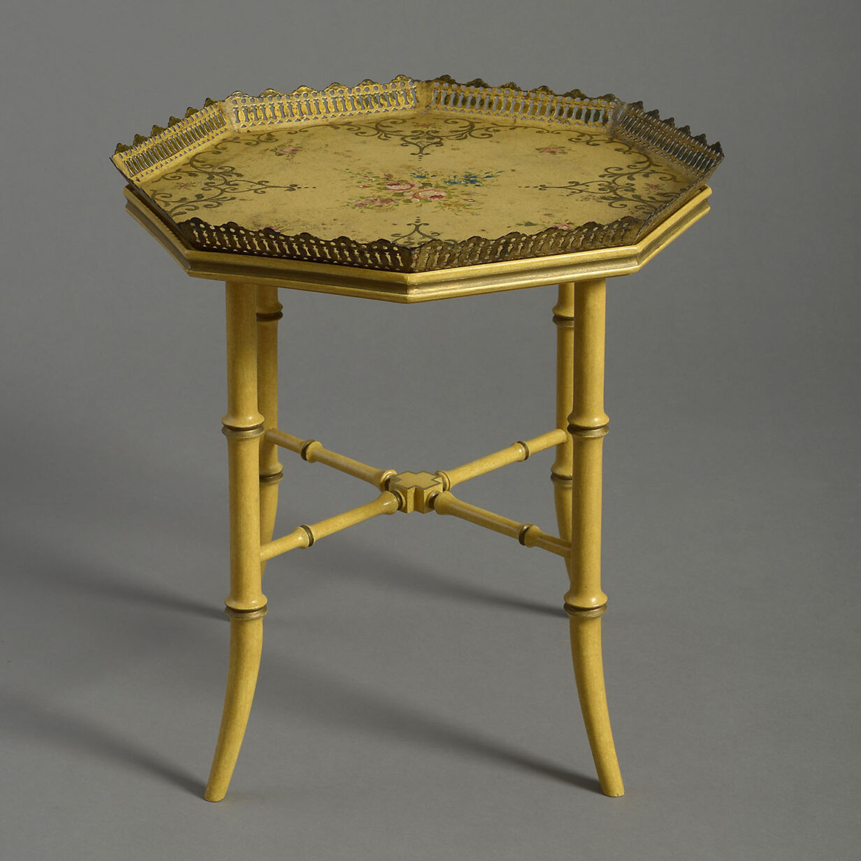 Yellow Tole Table