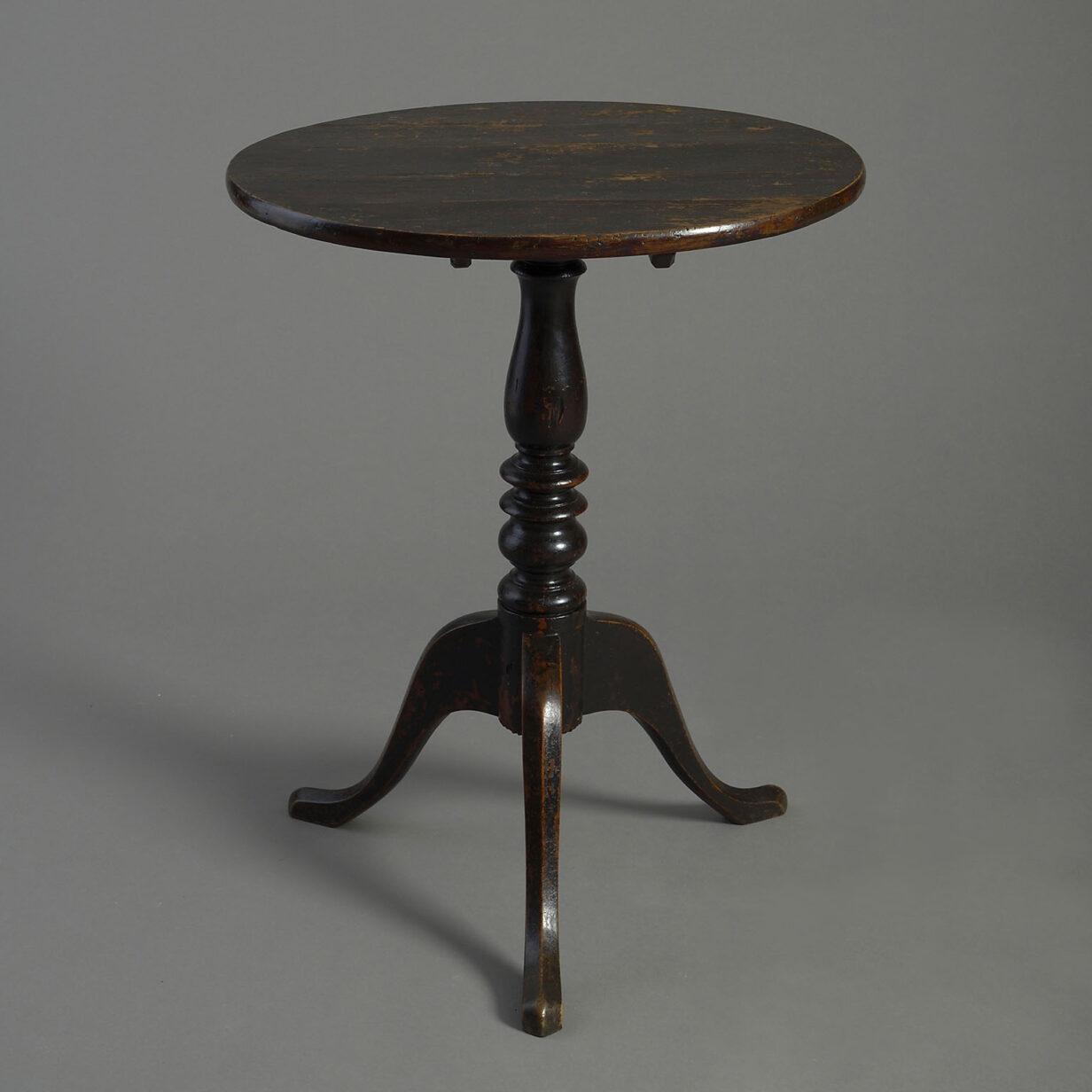 Ebonised Tripod Table