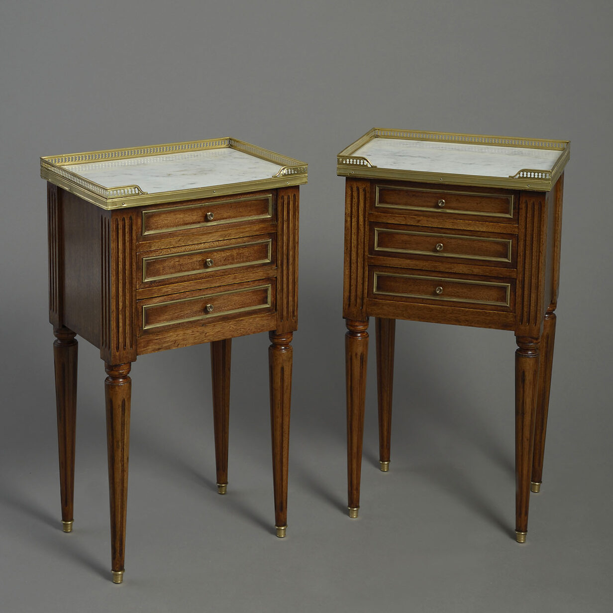 Pair of French Bedside Cabinets