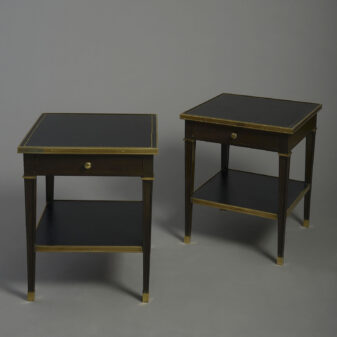 Pair of Ebonised End Tables