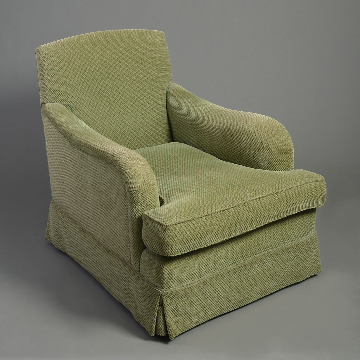 Pair of Howard Style Easy Armchairs