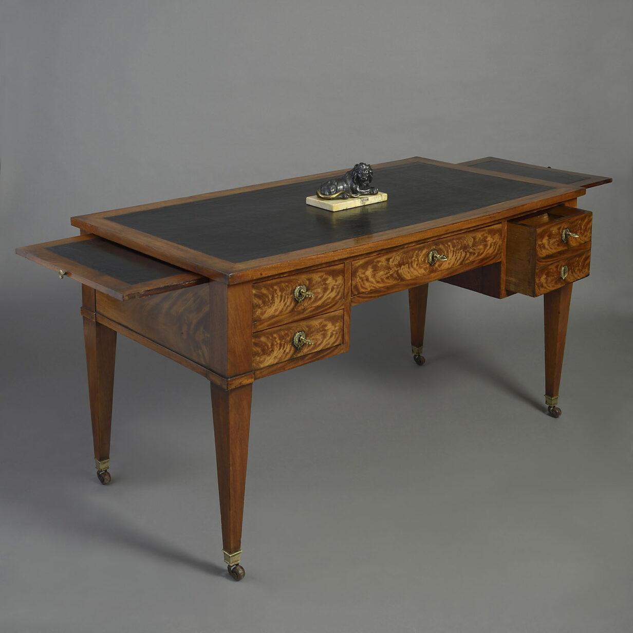 Louis XVI Mahogany Bureau Plat