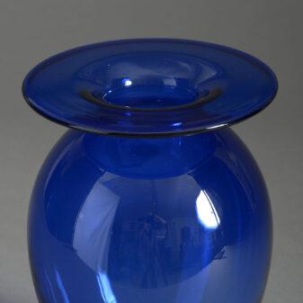 Scandinavian Blue Glass Vase