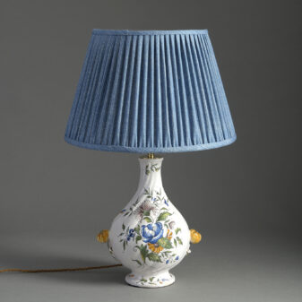 Faience Pottery Lamp