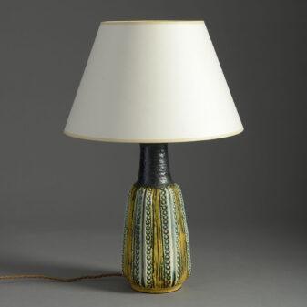 Art Pottery Vase Lamp