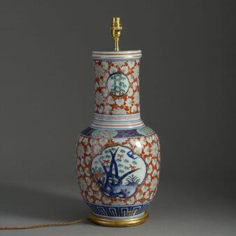 Tall Imari Vase Lamp