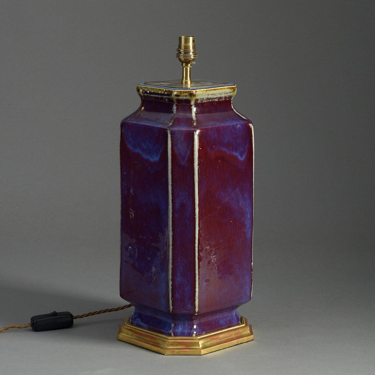 Square Flambe Lamp