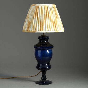 Bristol Blue Glass Lamp